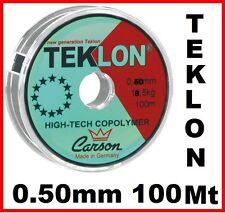 MONOFILO FILO 100 MT 0.50 DA PESCA 050 0,50 PER TERMINALI TRAVI BOLENTINO TRAINA