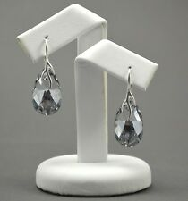 925 Silver Earrings made with Swarovski Crystals 22mm PEAR Crystal CAL