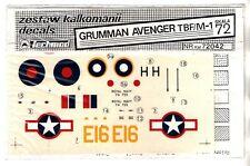 TECHMOD DECALS 72042 - 1/72 GRUMMAN AVENGER TBF/M-1 - NUOVO
