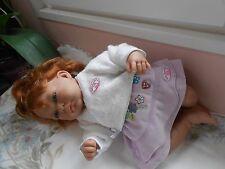 cache cœur et jupe compatible avec poupée antonio juan, baby annabell, 45cm