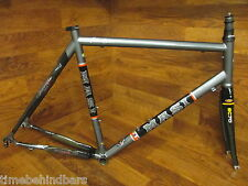 VINTAGE MASI DEDACCIA EOM 16.5 STEEL ROAD BIKE FRAMESET 57CM MOMO BOX BLACK TAIL