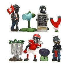 8pcs Cute Plants vs. Zombies Action Figures Grave Buster PVC Toys Set Kid Gift