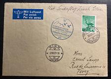 1937 Triesenberg Liechtenstein Special FlighT cover to Zurich Switzerland