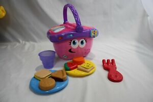 Leap Frog Talking Shapes And Sharing Picnic Basket with Accessories