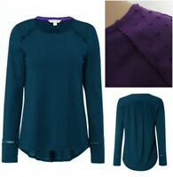 New White Stuff Teal Blue Purple Embroidered Long Sleeve Tunic Top 8 -18 Domingo