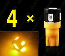 4PCS T10 High Power 5630 Chip LED Amber License Plate Interior Lights Bulbs