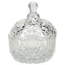 KIKI Kristallschale mit Deckel Zuckerdose Bonboniere Bonbonglas Glas Kristall