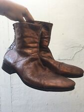 "DIESEL ""SEXY DANDY GUENO"" Copper metallic Zip Boot SIZE L Leather Made in Italy"