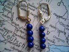 Lapis Lazuli Ohrhänger lang Gold 333,Ohrhänger Gold 333 mit blauem Lapis Lazuli