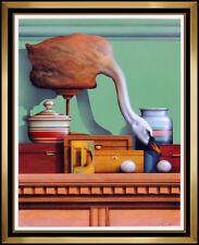 James Carter Large Original Painting Oil On Canvas Board Signed Still Life Art