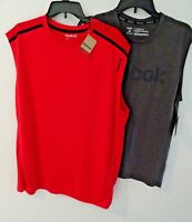 NEW Reebok Tank Top Sleeveless Shirt Mens M 2XL Red Gray