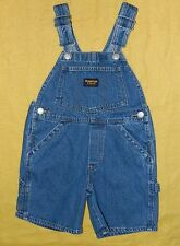 Unisex Classic Oshkosh Brand Denim Overall Shorts size 4 / 26x5 / Cute