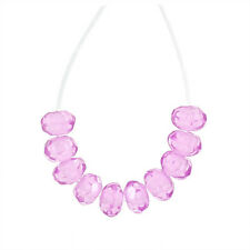 25 Cubic Zirconia Faceted Rondelle Beads 3mm Rose Pink #96133