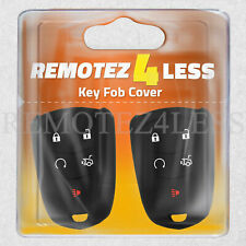 2 Key Fob Cover for 2015 2016 Cadillac SRX Remote Case Rubber Skin Jacket