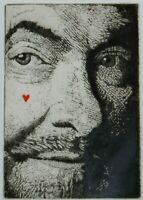 """C. HARDIE SIGNED ETCHING OF MAN'S FACE TITLED """"LOOKING FOR LOVE"""""""
