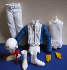 NEW KEN Doll clothes-Speed Racer-Faux Leather Jacket Pants Helmet White Boots++