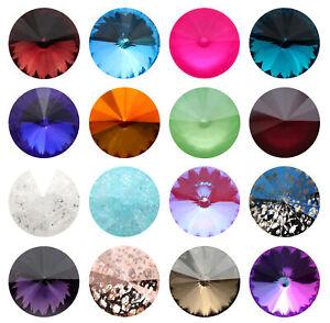 Genuine AURORA A1122 Rivoli Round Stones Crystals * Different Colors & Sizes