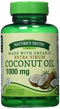2 Pack Nature's Truth Extra Virgin Coconut Oil 1000mg Softgel Capsules 100 Each
