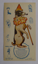 1939 Ice cream cards F51-2 Circus Cup Stands ups Dog
