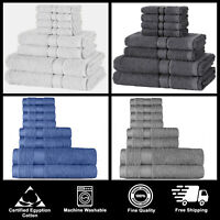 Luxury 100% Egyptian Cotton Bale Towel Set Bathroom Bath Hotel Quality 650gsm