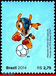 """3268a BRAZIL 2014 WORLD CUP CHAMPIONSHIP, """"FULECO"""" OFFICIAL MASCOT, SOCCER, MNH"""