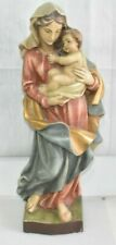 große alte Holzfigur Maria Madonna 53cm Heiligenfigur MutterGottes Schnitzerei#1