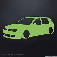 VW Golf MK4 Mark 4 IV Wall Art Vinyl Garage Sticker Workshop Vee Dub Decal