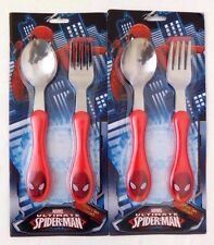 Zak Design Spider-Man Easy Grip Flatware-Spoon and Fork Children Set, Pack Of 2