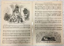 Four pages from he Illustrated London News, pp.621-24. Song lyrics and text