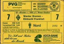 Ticket BL 79/80 Werder Bremen - Eintracht Frankfurt
