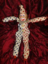 "Vintage Collectible 16"" inch~ Clown~With Bell body~Beautiful Face & body~Clean"
