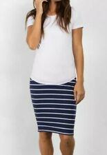 Motherhood Maternity Stripe blue/ white Pencil Skirt sz L