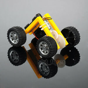 L Electric Toy Car Kits Educational DIY Hobby Robotic Learning Gift Model Handle