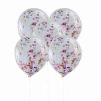 "5Pcs 12"" Gold Foil Confetti Latex Balloons Helium Wedding Birthday Party Decor"