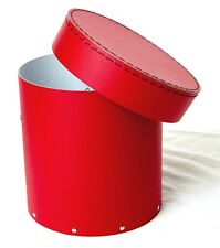 1x Red decorative round hat box for flowers Home Decor Gift M