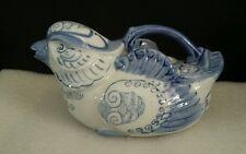 Teapot Blue and White Bird Figure Tea pot Made in China