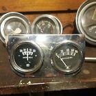 Vintage Stewart Warner Gauge Panel.amps And Pressure Gauges.coffin Needle.hotrod