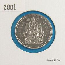 2001 P  Canada 50 Cent Specimen  Nickel Half Dollar Coin From Set
