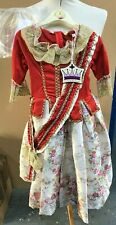 Deluxe Floral Countess Dress Up Outfit Complete With Dress Hoop Age 9-11(D/02)KW