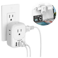 Power Strip 3Way Outlet T Shape Multiple Tap Adapter Socket Electric Plug Extend