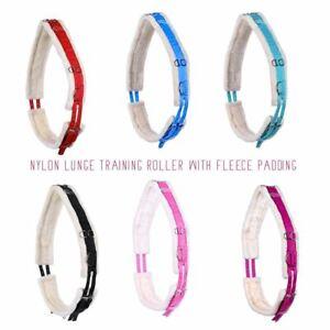 Full Cob Pony Nylon Lunge Roller Soft Fleece Padding Lunging Training 7 Colours
