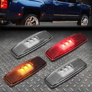 FOR 1994-2002 DODGE RAM CLEAR LENS LED DUALLY FENDER SIDE MARKER LIGHT/LAMP SET