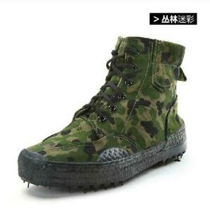 Men Military High Top Canvas Camo Casual Shoes Lace Up Athletic Sneaker Boots