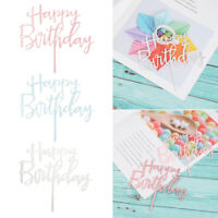 Decoration Gifts Happy Birthday Cake Topper Acrylic Decor Party Supplies