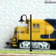 20 pcs HO or OO scale Model Lamppost 12V street light Metal Lamp #605