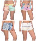 Sale Cheap Womens Ladies Pastel Summer Holiday Shorts Denim Cotton 8 10 12 14