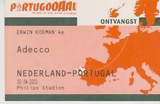 Sammler Used Ticket / Entrada Holland v Portugal 30-04-2003
