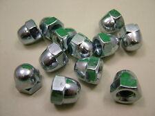 Dôme écrou acorn aveugle Borgne,M10 fils,paquet de 12,acier,clair plaqué zinc