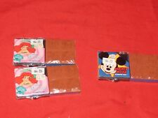 k New Disney Stamper Pack Refillable Pad 4 Stamps Little Mermaid Mickey Mouse
