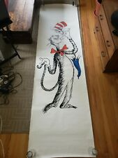 Giant Cat in the Hat Graphic Wall/Door Banner - Vintage Dr. Seuss -1970 Sears